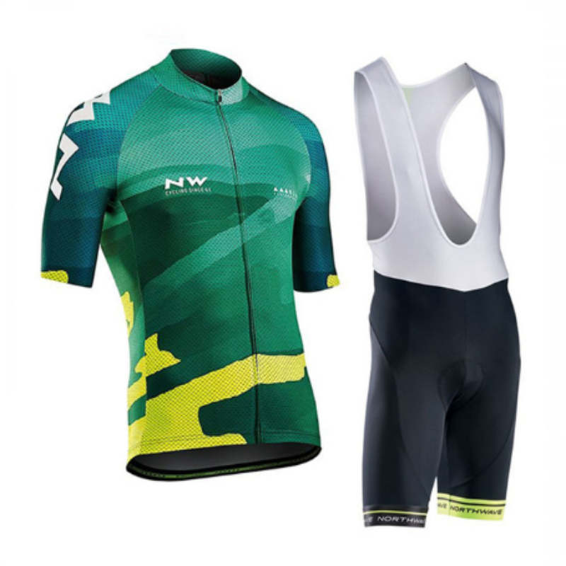 <font><b>NW</b></font> <font><b>2019</b></font> <font><b>NORTHWAVE</b></font> Summer Men Cycling Jersey Short Sleeve Set Breathable bib shorts Bicycle Clothes Quick Dry Maillot image