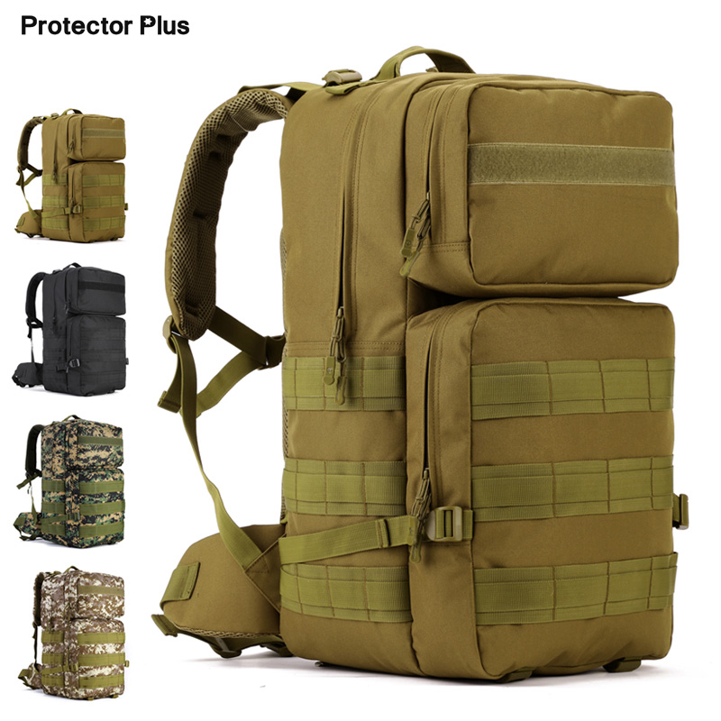 2018 Hot 55L Military Tactical Assault Pack Backpack Army Molle Bag Small Rucksack For Outdoor Hiking Camping Hunting 4 Colors 2018 hot a military tactical assault pack backpack army molle waterproof bag small rucksack for outdoor hiking camping hunting