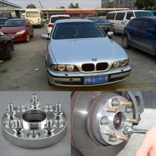 Teeze 4pcs New Billet 5 Lug 14*1.5 Studs Wheel Spacers Adapters For BMW 5 Series E39 2 pieces of specialized in the production of wheel adapters wheel spacers 4 x100 suitable for toyota corolla vios and yaris