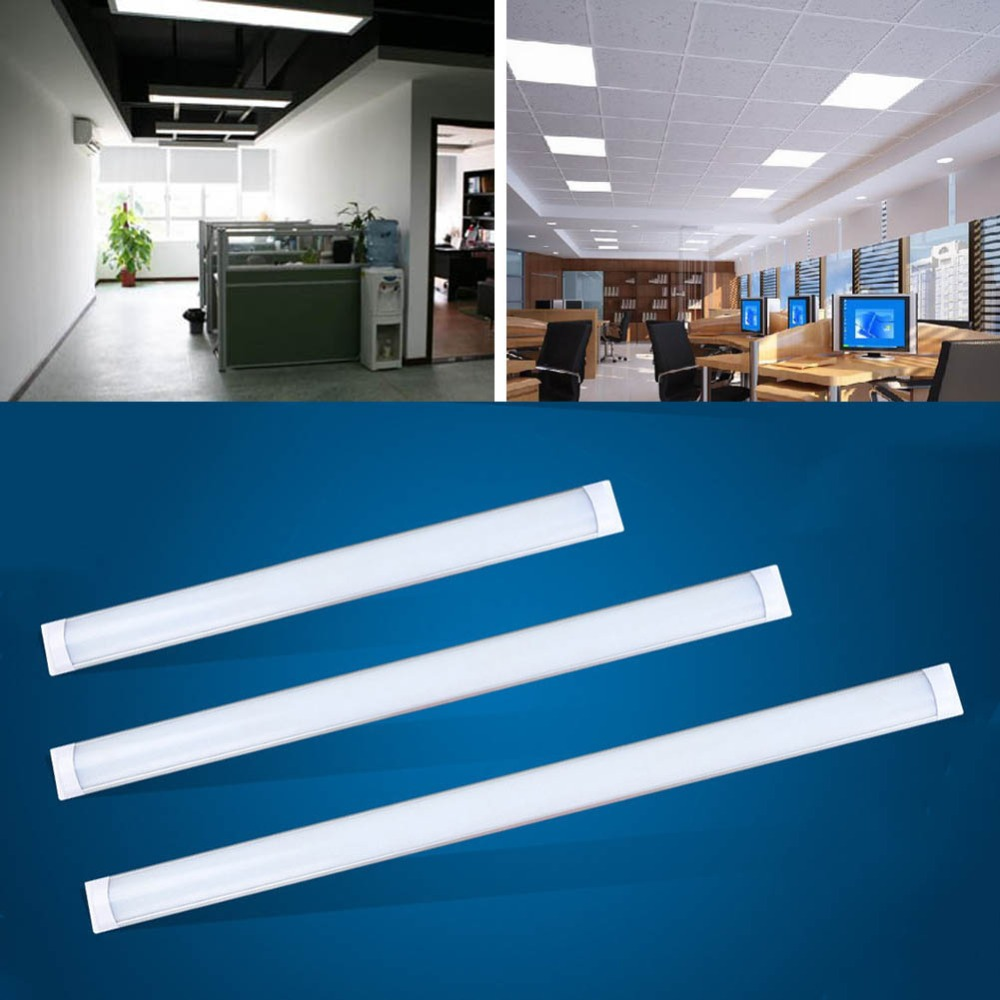 10W 30cm 20W 60cm 30W 90cm 40W 120cm Tri-Proof Light Batten Tube Liner Lamp <font><b>LED</b></font> Tube Lights Replace Fluorescent Fixture Ceiling image