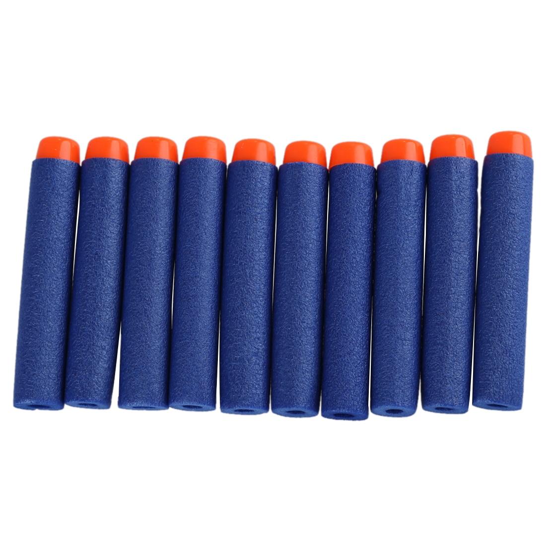 New 100pcs 7.2cm Refill Darts for Nerf N-strike Series Blasters Kid Toy Gun-blue ...