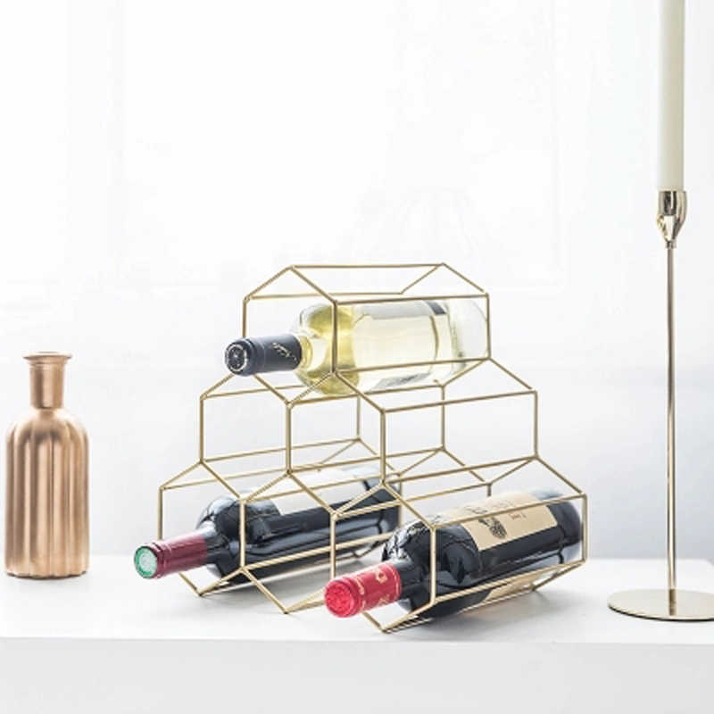 De metal minimalista Nordic criativo casa cremalheira do vinho de uva restaurante decoração sala de estar armário do vinho moderno decoração de exibição