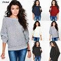 Snowshine #3001 Женщин Форме Крыла Летучей Мыши Рукав Вязаный Пуловер Свободные Свитера Jumper Топы Трикотаж бесплатная доставка