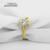 Ainuoshi 10 k sólido oro amarillo anillo de bodas 1 carat pear cut diamante simulado anillos de halo anillos de compromiso para la mujer bijoux