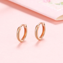 VOJEFEN 18K Rose Gold Small Hoop Earrings Hypoallergenic for Women Men Girls Fine Jewelry