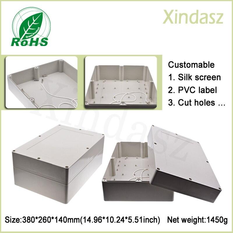 (XD-F11-1) 380*260*140mm Kunststoff-gehäuse Boxen Große Kunststoff Gehäuse Outdoor Kunststoff Gehäuse
