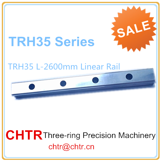 Manufactory Low price for 1pc TRH35 Length 2600mm Linear Slide Rail CNC Linear Guide Rail 34mm high precision low manufacturer price 1pc trh20 length 2300mm linear guide rail linear guideway for cnc machiner