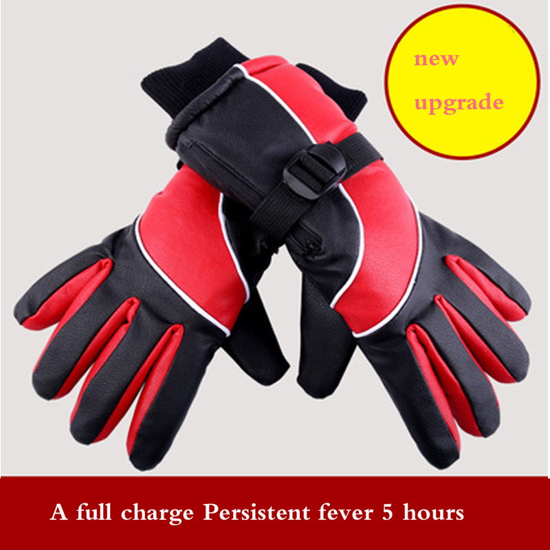 High quality 2018 Electric heating glove usb electric motorcycle heating glove Lithium battery charging electric heating gloves