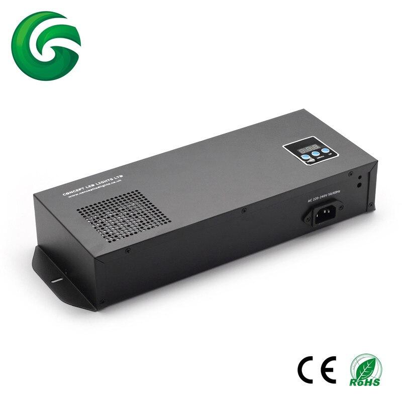 350w power 3CH/4CH DMX512 controller dmx decoder for RGB/RGBW strips 3years warranty 110V/230V INPUT dmx512 digital display 24ch dmx address controller dc5v 24v each ch max 3a 8 groups rgb controller