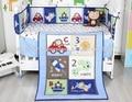 Ups envío new blue cars avión impreso baby boy crib bedding set ropa de cama de bebé cuna bebe jogo de cama