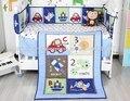 Ups grátis new azul carros avião impresso baby boy crib bedding set roupa de cama de bebé berço jogo de cama bebe