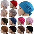 2017 fashion Islamic Muslim Women's Head Scarf Cotton Underscarf Hijab Cover Headwrap Bonnet   grey
