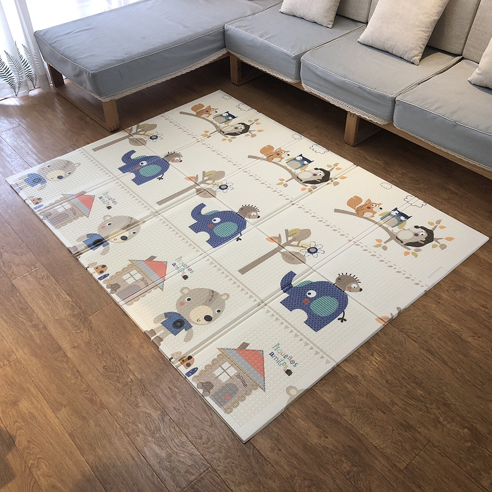 Infant Shining Baby Play Mat 180*200cm Portable Folding Baby Climbing Pad Foam Pad XPE Environmental Parlor Game Blanket