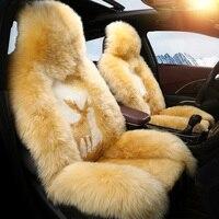 Couverture de siège de voiture couvre auto accessoires de fourrure pour volkswagen vw golf 3 4 5 6 7 gti de golf r mk golf7 tiguan touareg 2017 2016 2015