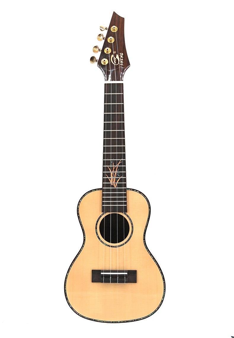2019 nouveauté 23 pouces 26 pouces ukulélé épicéa bois simple planche Hawaii Mini guitare avec sac/accordeur/cordes