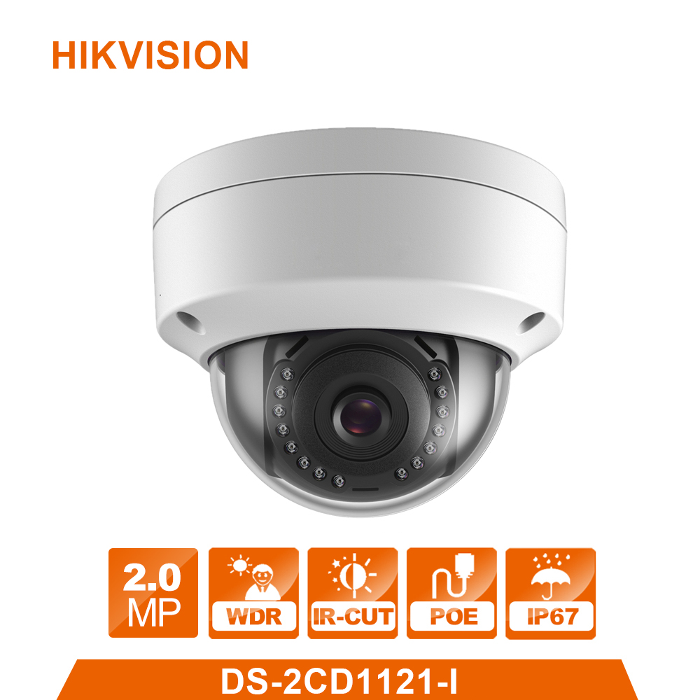 Hikvision Original English CCTV Camera DS-2CD1121-I replace DS-2CD2125F-IS 2MP Mini Dome IP Camera POE IP67 Firmware Upgradeable hikvision hik h 265 original international surveillance camera ds 2cd2185fwd i 8mp dome cctv ip camera ip67 ik10 poe 1080p onvif