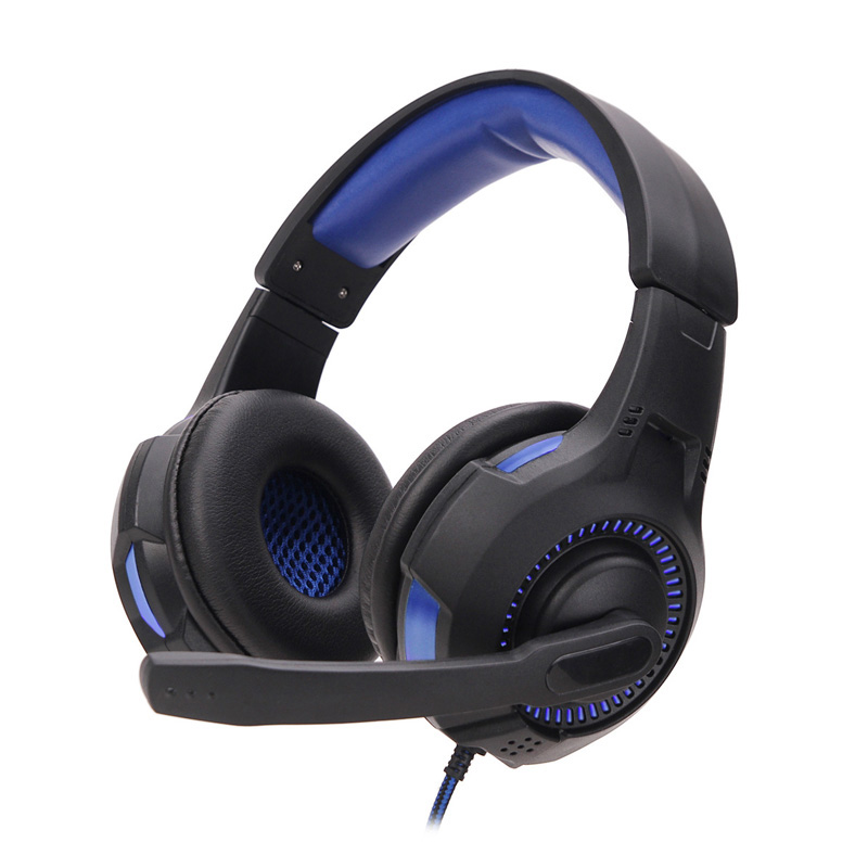 SOYTO SY885MV Gaming Headset Gamer Stereo LED Headphones Headband Earphones With Microphones Wire Control For PC Desktop