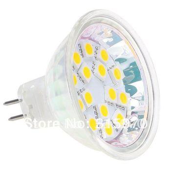 15Led MR16 Spot Lamp 5050 SMD AC/DC10-30V 12V/24V Wide Volt White Warm White 20pcs/lot