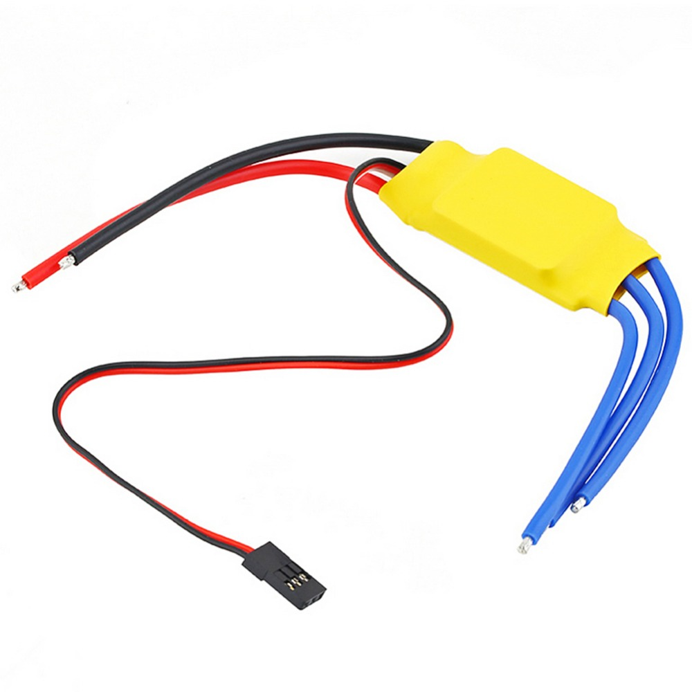 30A Brushless Motor Speed Controller RC BEC ESC For T-rex 450V2 Helicopter Boat rc 4pcs 30a brushless esc 450 helicopter multicopter motor speed controller free shipping brushed