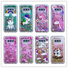 Glitter Liquid unicorn Quicksand Case for Samsung Galaxy S10 Plus Cases For Samsung S 10 + S10 E S10 Plus/S10e Cartoon Cover lemonic plus ghost warriors rising e liquid