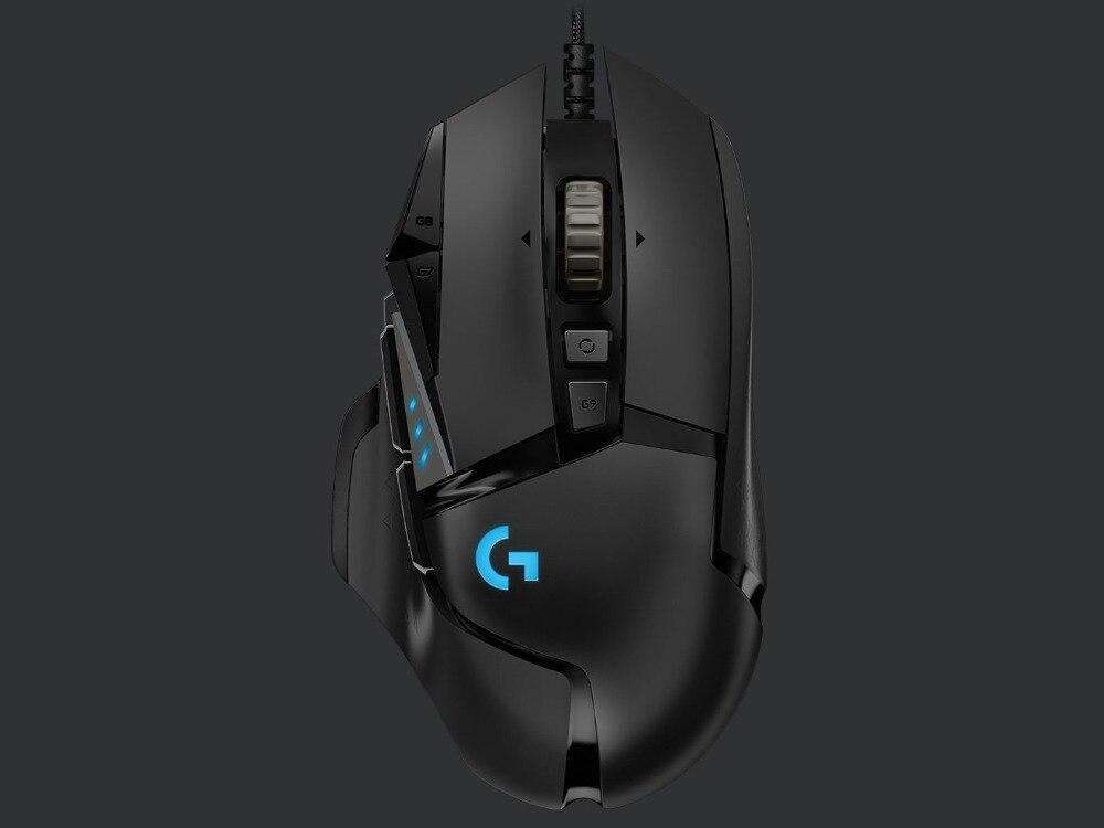 2018 Nuovo Logitech G502 Mouse EROE 16 k Motore 16000 dpi RGB Retroilluminazione 11 Programmabile Bottoni Per LOL PUBG Fortnite overwatch CSGO