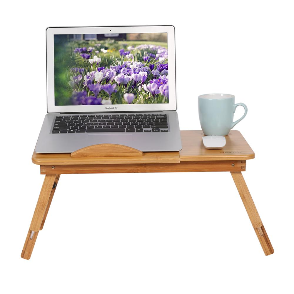 Shelf Tray-Stand Bed-Table Laptop Lap Desk Dormitory-Bed Bamboo-Rack Book-Reading 1pc