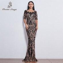 Şiirleri şarkıları parti mükemmel moda pullu abiye resmi elbise uzun abiye yeni stil vestido de festa