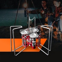 BULIN 5800W Mini Outdoor Camping Stove Foldable Split Type Cooking Stove Picnic Gas Burner for Fishing Hiking Picnic Hunting BBQ