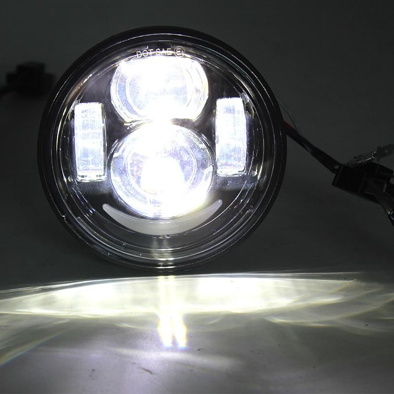 FADUIES 1 par Motorcycle 4.5Inch h4 Haz alto / bajo con DRL Fat Bob - Accesorios y repuestos para motocicletas - foto 4