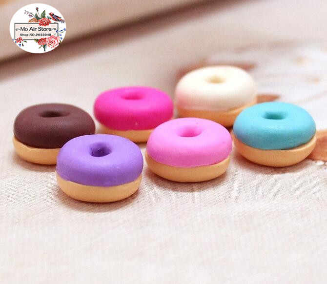 Mixed Pink Food Cake Dessert Miniature Cabochon Polymer Clay Decoden Craft Jewelry Charms Resin Flatback Grab Bag Assorted Set 10pcs C05