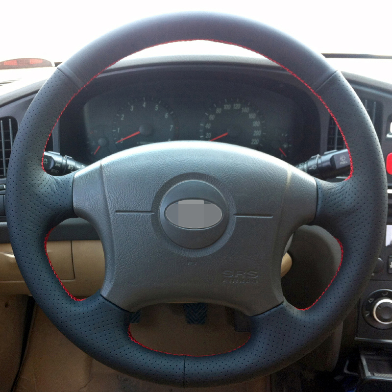 Hand-stitched Black Leather Steering Wheel Cover for Hyundai Elantra Old Elantra 2004-2011 цена
