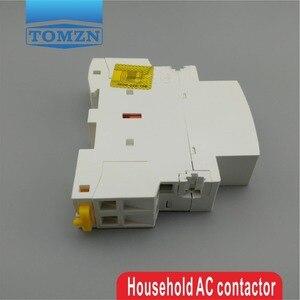 1 шт. TOCT1 2P 25A 220 В/230 В 50/60 Гц din-рейка бытовой ac модульный контактор 2NO