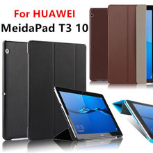 "Case For HUAWEI MediaPad T3 10 Case Cover T3 10.0 Case 9.6"" PU Leather AGS-W09 AGS-L03 L09 Tablet Honor Play Pad 2 Protective(China)"