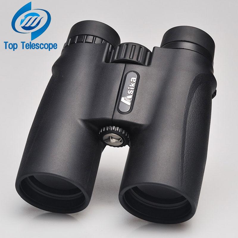 Бинокль Asika 10x42 высокое качество телескоп Военная Униформа ночное видение binoculo высокое мощность telescopio для охотничья оптика черный