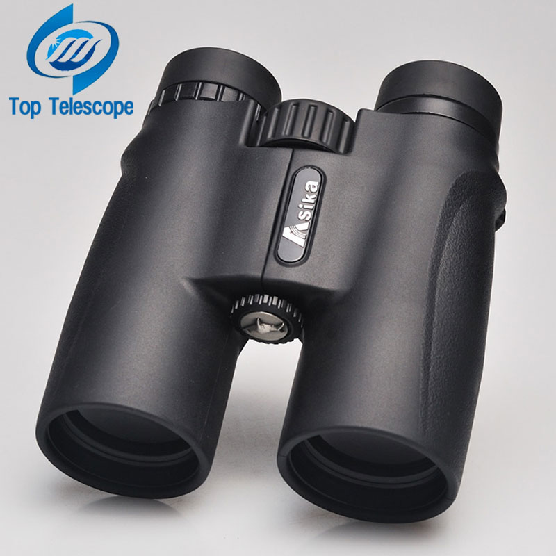 Binoculars Asika 10x42 high quality Telescope military night vision binoculo high power  telescopio for hunting optics black fs 20x50 high quality hd wide angle central zoom portable binoculars telescope night vision telescopio binoculo freeshipping