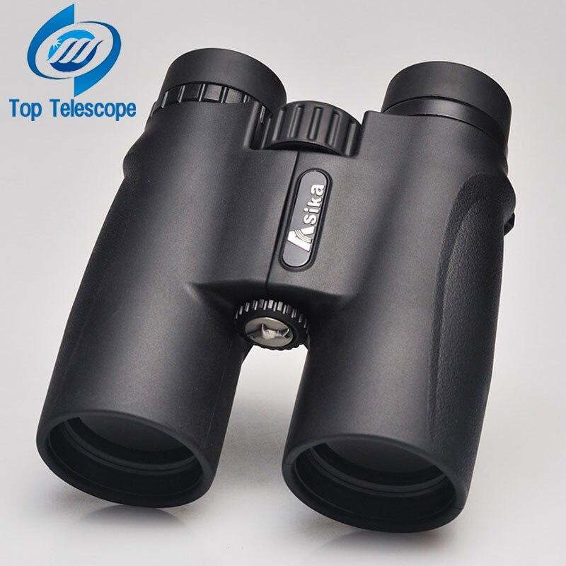 Jumelles Asika 10x42 haute qualité Télescope nuit militaire vision binoculo haute puissance télescope pour la chasse optique noir