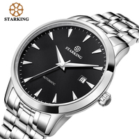 STARKING Original Brand Watch Men Automatic Self wind Stainless Steel 5atm Waterproof Business Men Wrist Watch Timepieces AM0184