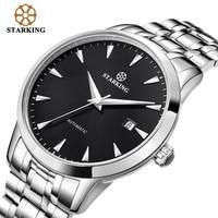 STARKING Original Brand Watch Men Automatic Self wind Stainless Steel 5atm Waterproof Business Men Wrist Watch Timepieces AM0184