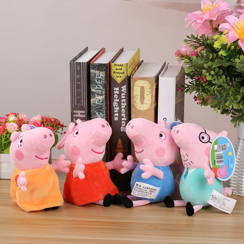 Brand-Peppa-George-Pig-Family-Plush-Toys-Stuffed-Doll-Party-decorations-Schoolbag-Ornament-Keychain-Toys-For-Children-Kids-Girls-5