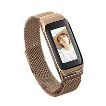 B42 Смарт-часы Водонепроницаемый модный спортивный браслет кровяное давление Bluetooth 4,0 Золотой Серебряный Черный Металлический Браслет фитнес-трекер