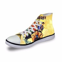 The Big Bang Theory Pop Printed Printed Women Vulcanized Shoes Casual High Top Canvas Shoes for Female Womens Espadrilles