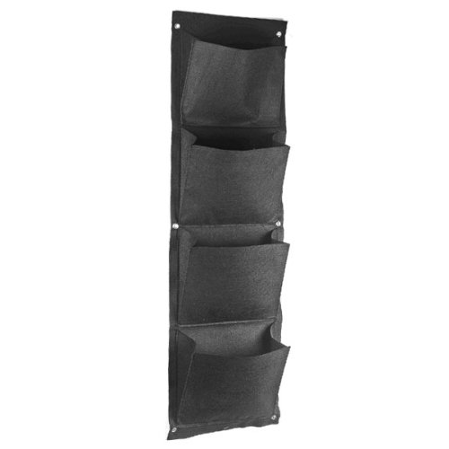 4 Grid Vertical Wall mounted Polyester Socks Ties Shoes Storage Organizer Box Hanging Bags