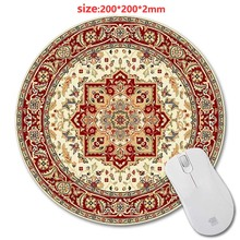 Selling Persian Carpets 3D printing round rubber mouse pad size 200 mm * 200 mm * 2 mm lasting computers and laptops mouse pad