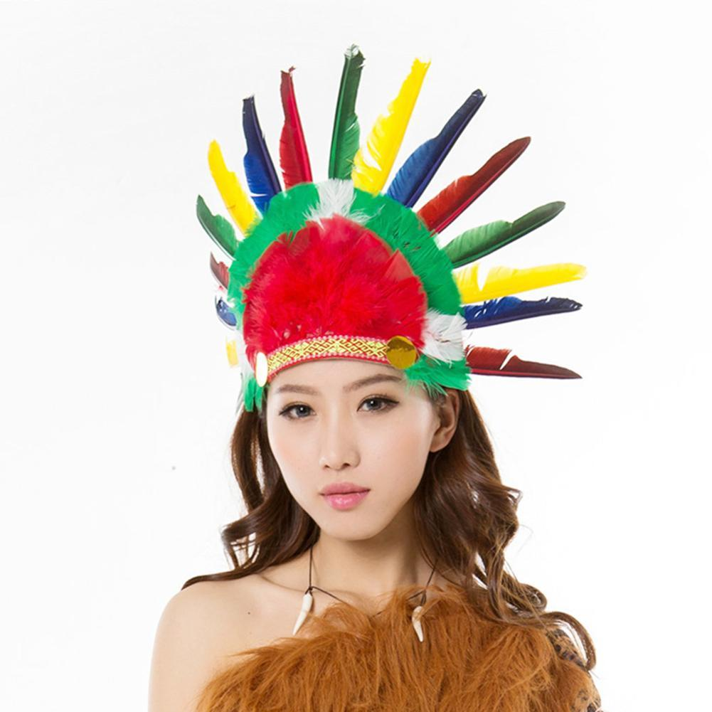 1 stück Nationalen Indischen federschmuck Native American kopfschmuck Halloween kostüme Kriegsmütze Hut...