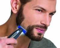 Stainless Steel Rechargeable Shaver Handheld Micro Touch SOLO Electric Men Hair Cleaning Shaver LED Light Smart