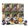 6pcs/set Naruto Cute Version Sasuke Uchiha Itachi Uzumaki Naruto Action Figure Japanese Anime Toys With Nice Package #F