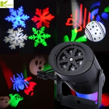 Outdoor Snowflake Christmas Stage Light Changeable 4 Multi-pattern Cards Love Heart Halloween Candy Laser Projector lamp