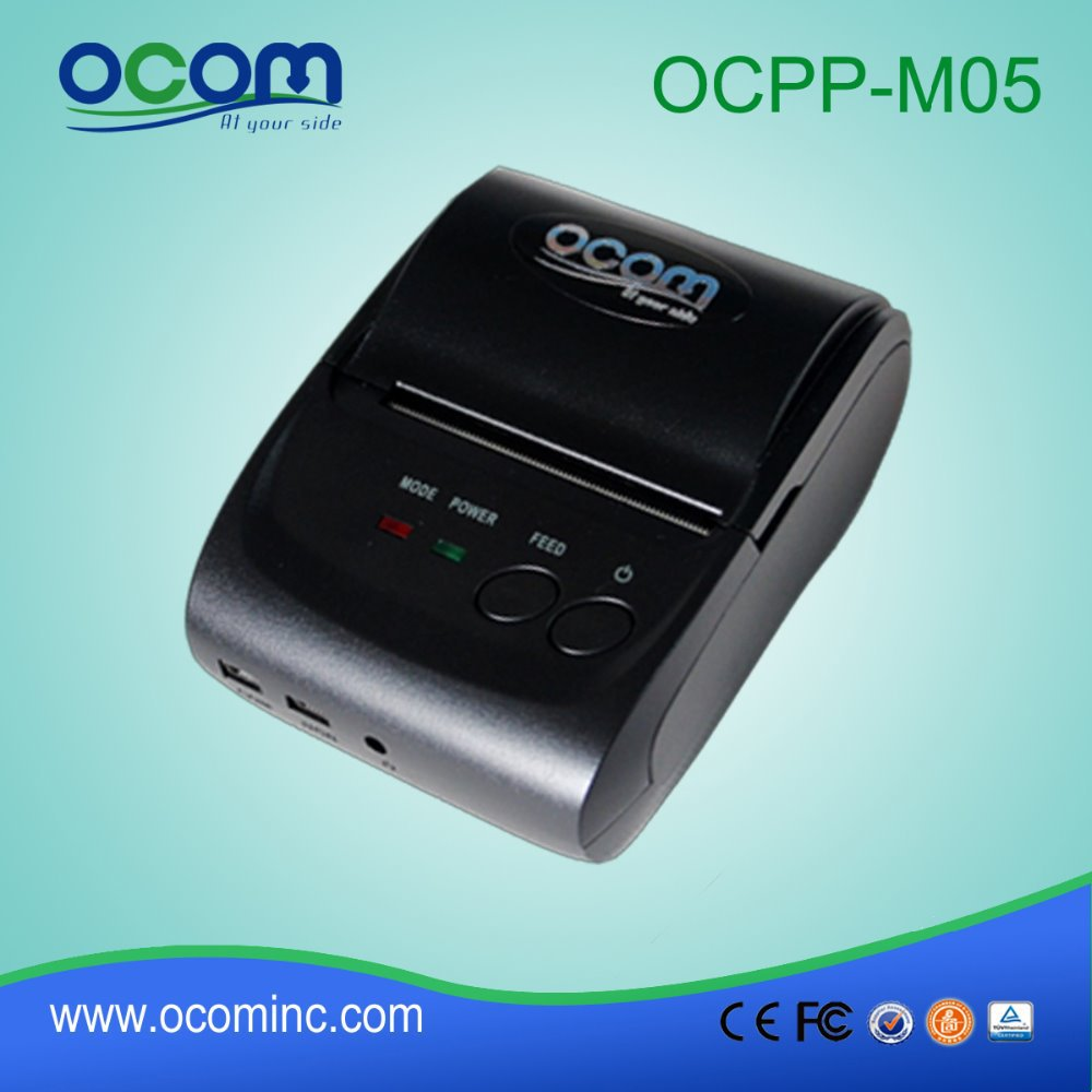 ФОТО Battery Powered 58MM Portable Bluetooth Thermal Printer Android Thermal Printer (OCPP-M05-BB)