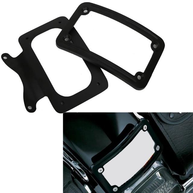 Black Curved Motorcycle License Plate Frame Bracket for Harley ...