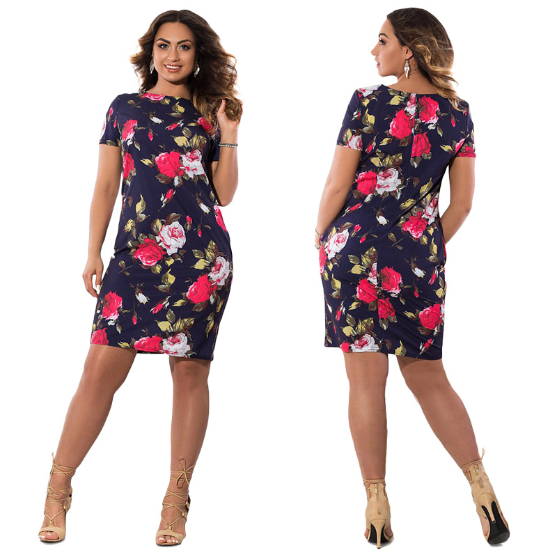HTB1 l UXeYCK1JjSZFmq6zCyVXar 2019 Autumn Plus Size Dress Europe Female Fashion Printing Large Sizes Pencil Midi Dress Women's Big Size Clothing 6XL Vestidos